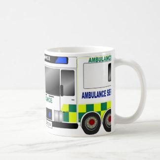 Ambulancia Reino Unido Taza Básica Blanca