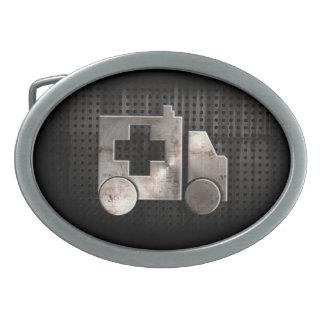 Ambulancia rugosa hebillas de cinturón ovales