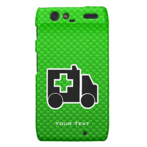 Ambulancia; Verde Droid RAZR Carcasas