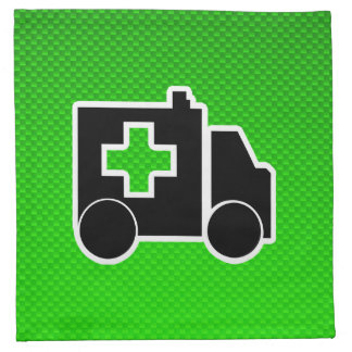 Ambulancia; Verde Servilletas