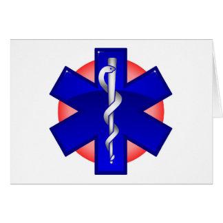 ambulanciero tarjeta de felicitación