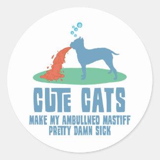Ambullneo Mastiff Classic Round Sticker