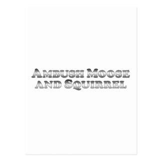 Ambush Moose and Squirrel - Basic Postcard