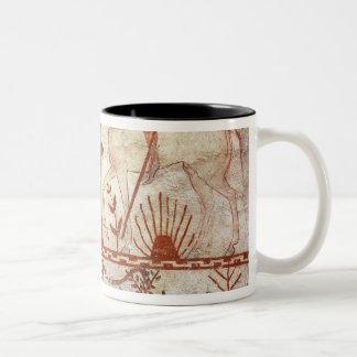 Ambush of the Trojan Prince Troilus Two-Tone Coffee Mug