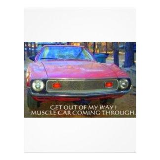 AMC 1974 AMX MUSCLE CARS LETTERHEAD TEMPLATE