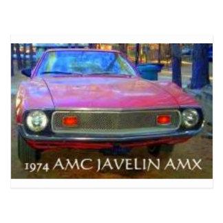 AMC AMX 1974 MUSCLE CARS POSTCARD