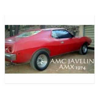 AMC JAVELIN AMX 1974 POSTCARD