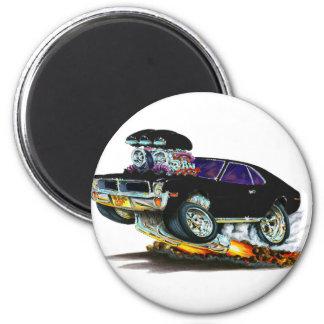AMC Javelin Black car 2 Inch Round Magnet
