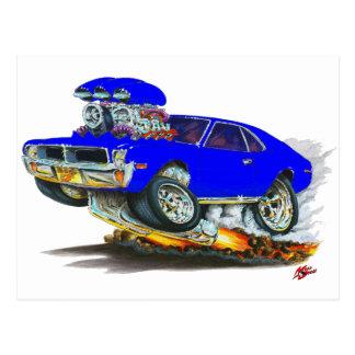 AMC Javelin Blue Car Postcard