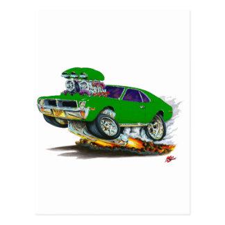 AMC Javelin Green Car Postcard