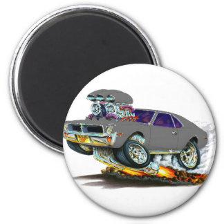 AMC Javelin Grey Car 2 Inch Round Magnet
