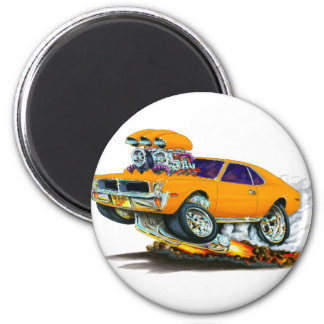 AMC Javelin Orange Car 2 Inch Round Magnet