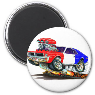 AMC Javelin RedWhiteBlue Car 2 Inch Round Magnet