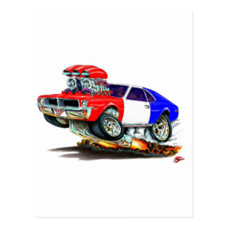AMC Javelin RedWhiteBlue Car Postcard