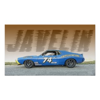 AMC Javelin Road Race Car Poster