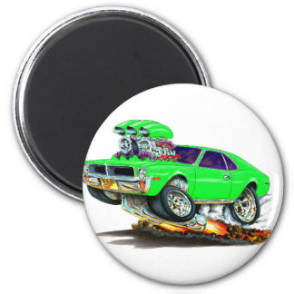 AMC Javelin Sublime Green Car 2 Inch Round Magnet
