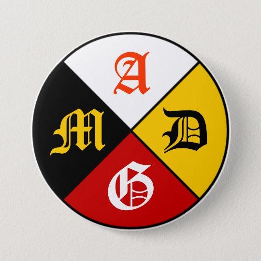 AMDG Medicine Wheel Button