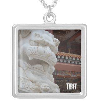 Amdo Tibetan Snowlion Key Chain Silver Plated Necklace