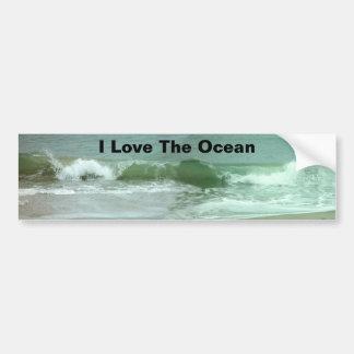Ame a la pegatina para el parachoques del océano pegatina para auto