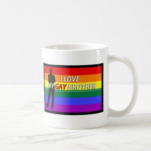 ame a mi hermano gay taza clásica