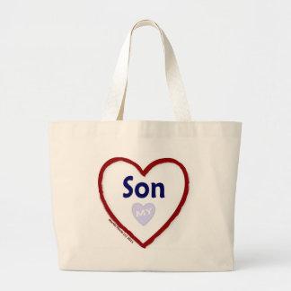 Ame a mi hijo bolsa tela grande