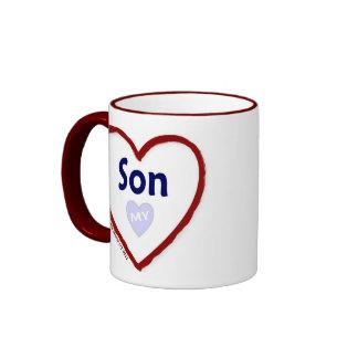 Ame a mi hijo taza de dos colores