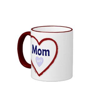 Ame a mi mamá taza de dos colores