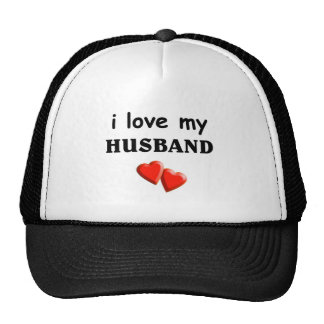 Ame a mi marido gorros bordados