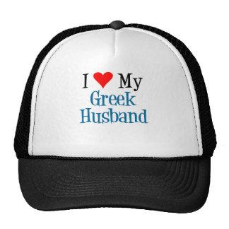 Ame a mi marido griego gorras de camionero