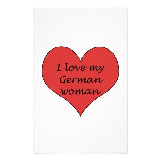 Ame a mi mujer alemana papeleria personalizada