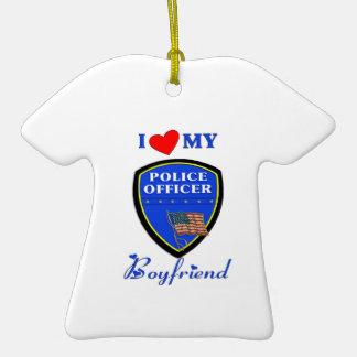 Ame a mi novio de la policía ornamento de reyes magos