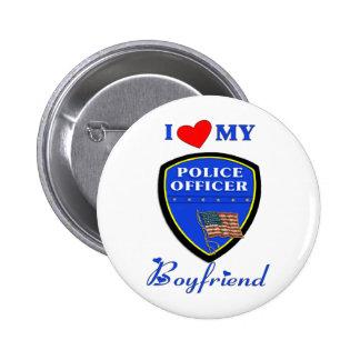 Ame a mi novio de la policía pins