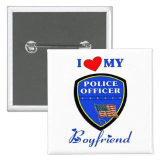 Ame a mi novio de la policía pin