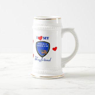 Ame a mi novio de la policía taza de café