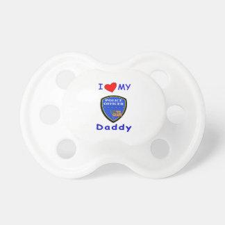 Ame a mi papá de la policía chupetes de bebé