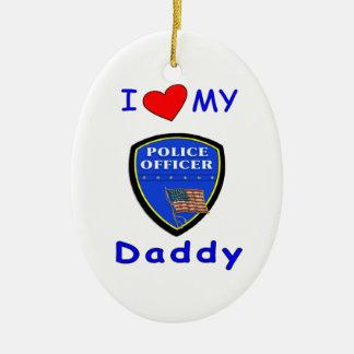 Ame a mi papá de la policía adornos