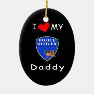 Ame a mi papá de la policía ornaments para arbol de navidad
