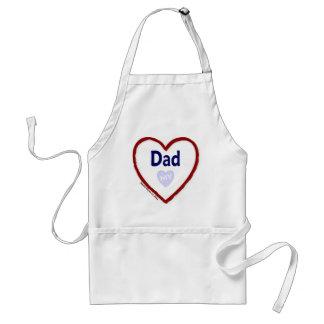Ame a mi papá delantal