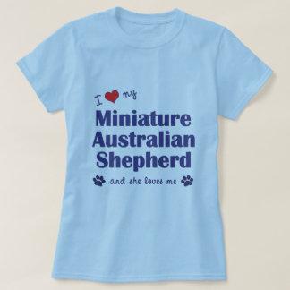 Ame a mi pastor australiano miniatura (el perro camisas