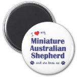 Ame a mi pastor australiano miniatura (el perro fe iman de nevera