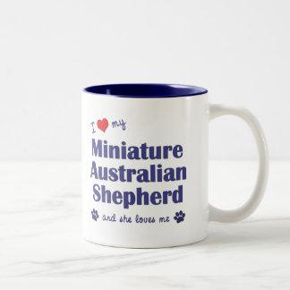 Ame a mi pastor australiano miniatura (el perro fe tazas de café