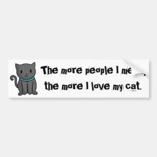 Ame a mi pegatina para el parachoques del gato pegatina para auto