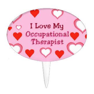 Ame a mi terapeuta profesional - corazones decoración de tarta