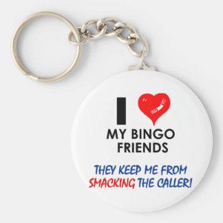 ¡Ame a mis amigos del bingo! Llavero Redondo Tipo Pin