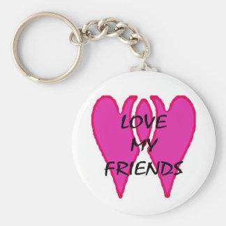 Ame a mis amigos los regalos de Zazzle del MUSEO Llavero Redondo Tipo Pin