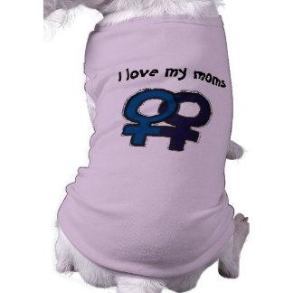 Ame a mis mamáes camisa de perrito