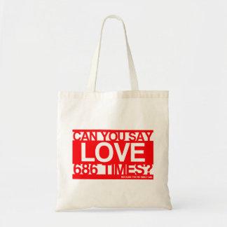 Ame a mucho cristiano bolsa de mano