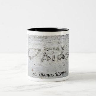 Ame a nuestros niños… (St Thomas) Taza Dos Tonos