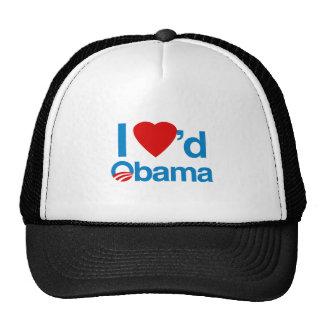 Amé a Obama Gorros Bordados