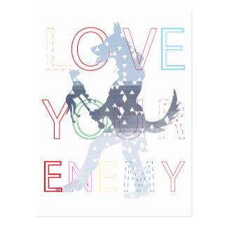 Ame a su enemigo postales